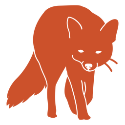 Approaching fox silhouette