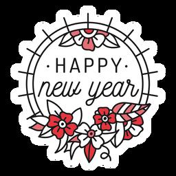 Insignia impresionante año nuevo