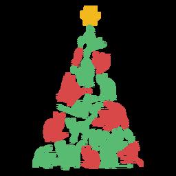 Gatos fantásticos árvore de natal