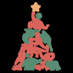 Árvore de Natal impressionante dinossauros
