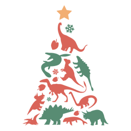 Awesome dinosaurs christmas tree