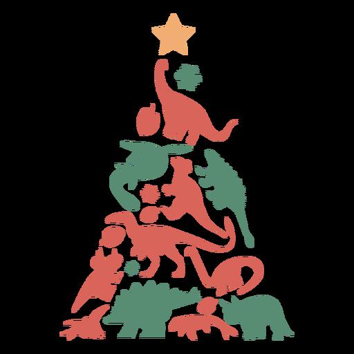 Árvore de Natal impressionante dinossauros Transparent PNG