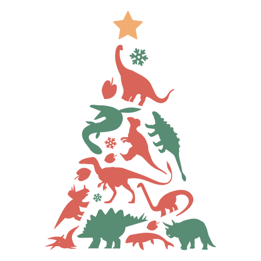 Awesome dinosaurs christmas tree Transparent PNG