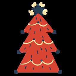 Impresionante árbol de navidad escandinavo