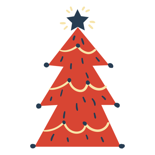 Awesome scandinavian christmas tree Transparent PNG