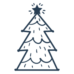 Awesome scandinavian christmas tree stroke