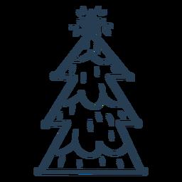 Impresionante trazo escandinavo del árbol de navidad