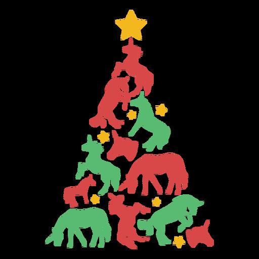 Awesome unicorns christmas tree Transparent PNG