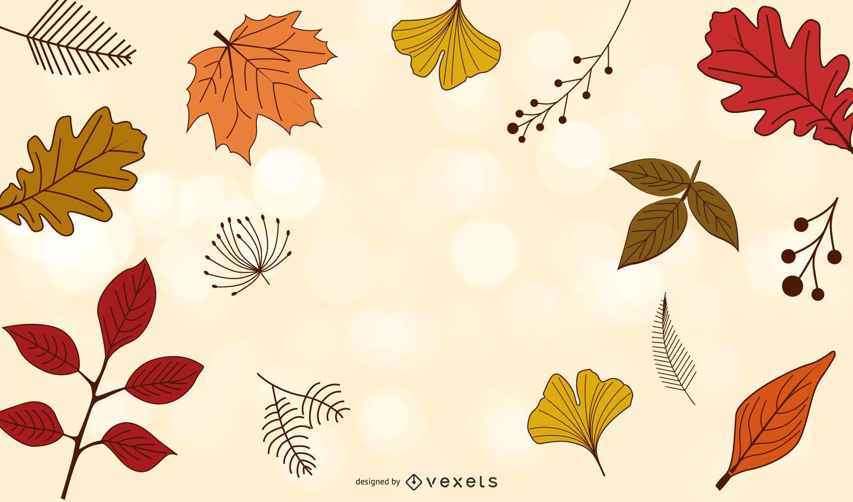 Vector de temporada de otoño