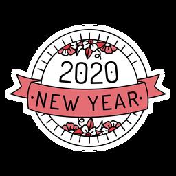 Distintivo feliz ano novo