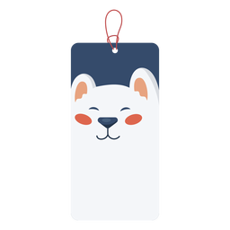 Bear christmas tag