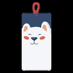 Etiqueta de natal urso
