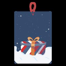 Etiqueta de regalo de navidad grande
