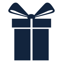 Big gift box blue
