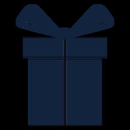 Grande caixa de presente azul