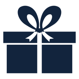 Blue gift box simple