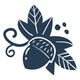 Blue scandinavian cute acorn