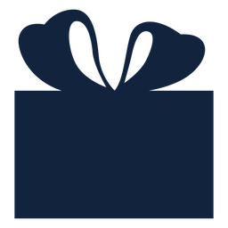 Blue simple gift box