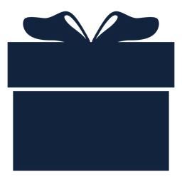 Caixa de presente azul