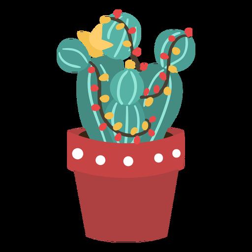 Cactus navidad simple Transparent PNG