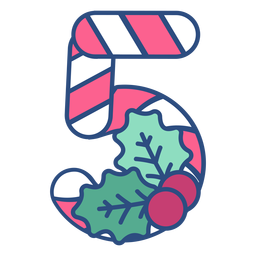 Candycane christmas five