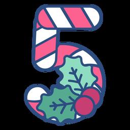 Candycane Weihnachten fünf