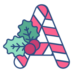 Candycane navidad carta a