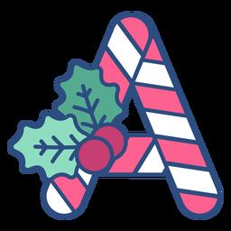 Letra de Natal Candycane a