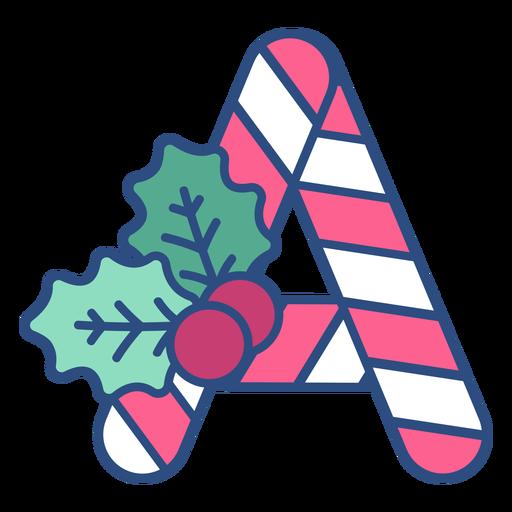 Candycane christmas letter a Transparent PNG