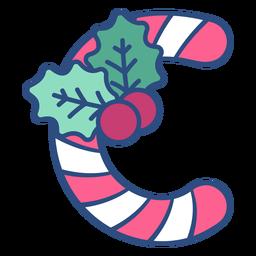 Letra de Natal Candycane c