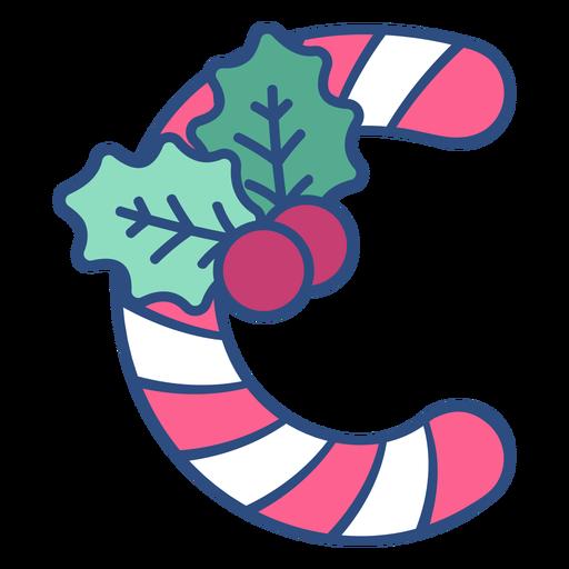 Candycane christmas letter c