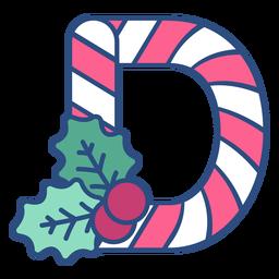 Candycane navidad letra d