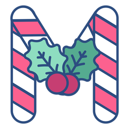 Letra de Natal Candycane m