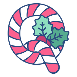 Candycane christmas letter q