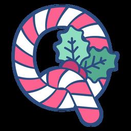 Candycane navidad letra q