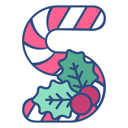 Candycane christmas letter s