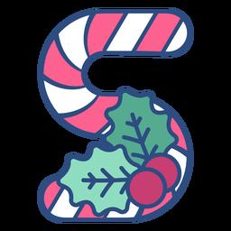 Candycane natal letra s