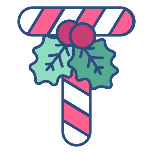 Candycane christmas letter t