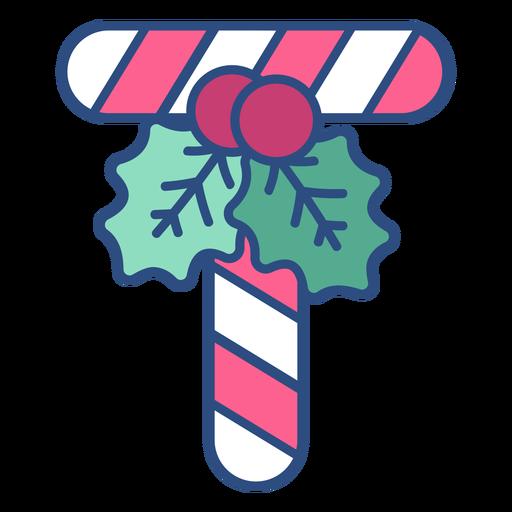 Candycane navidad letra t