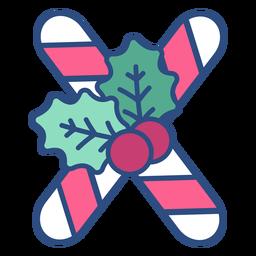 Candycane christmas letter x