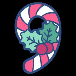 Candycane christmas nine