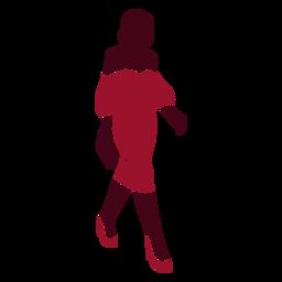 Silueta de mujer de moda elegante