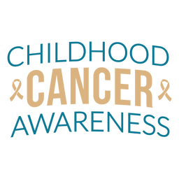 Childhood cancer awareness lettering