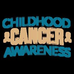 Childhood cancer awareness lettering