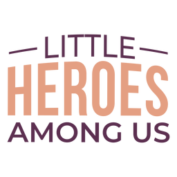 Childhood heroes cancer lettering