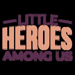 Childhood heroes cancer lettering