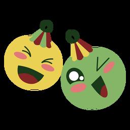 Bolas de Natal fofas