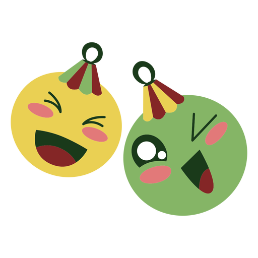 Christmas balls cute Transparent PNG
