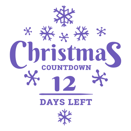 Christmas countdown 12 Transparent PNG