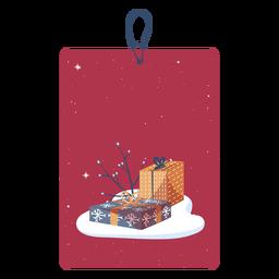 Tags de presentes de natal